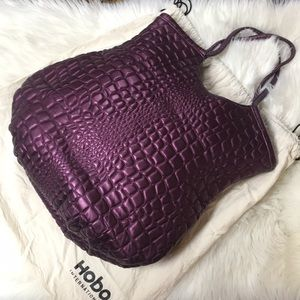 Hobo International Snakeskin Print Shoulder Bag